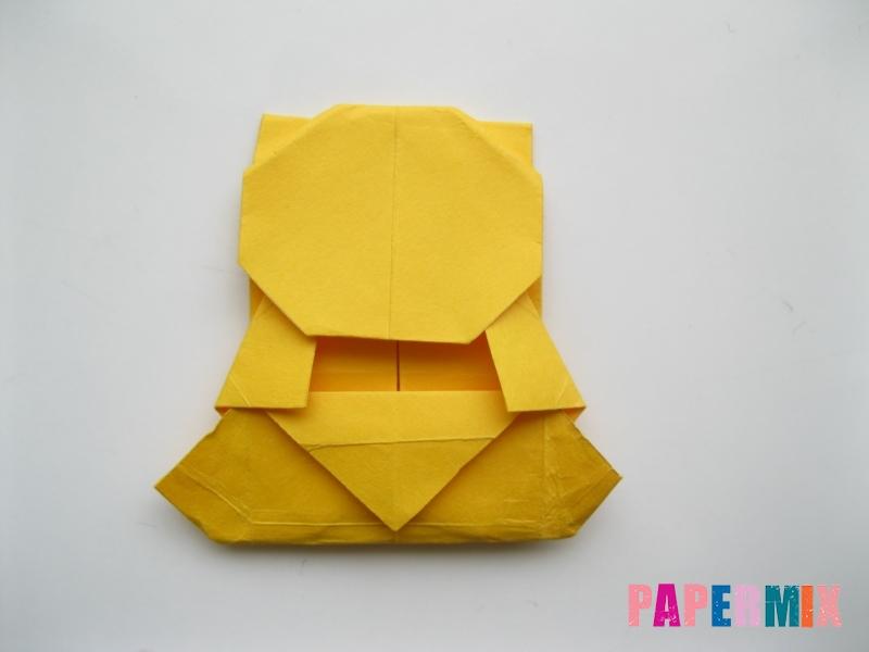 Как сделать медведя из бумаги (оригами) своими руками - шаг 16