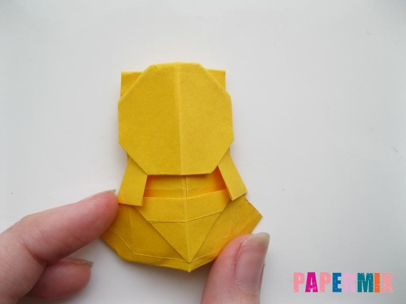 Как сделать медведя из бумаги (оригами) своими руками - шаг 17