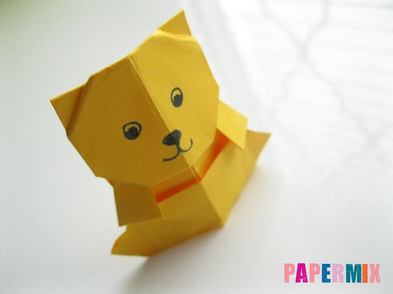 Как сделать медведя из бумаги (оригами) своими руками - шаг 19