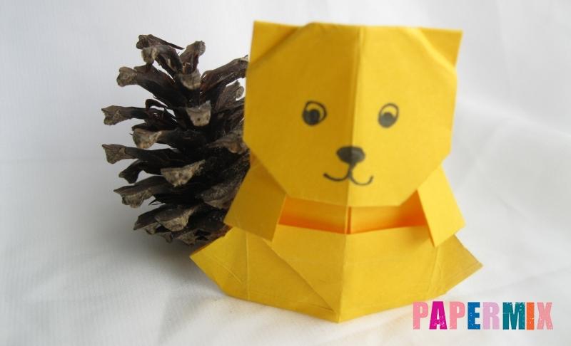 Как сделать медведя из бумаги в технике оригами своими руками поэтапно