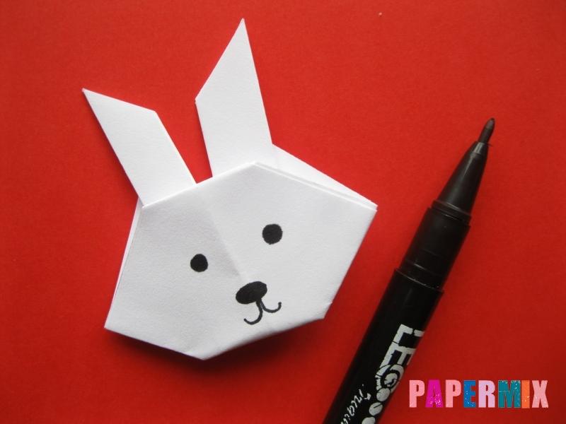 Как сделать мордочку зайчика из бумаги поэтапно - шаг 11