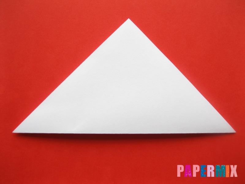 Как сделать мордочку зайчика из бумаги поэтапно - шаг 2