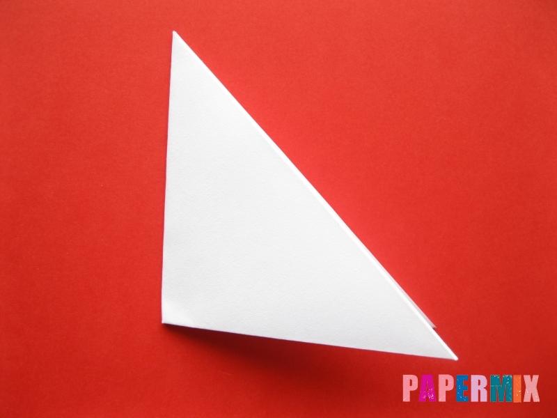 Как сделать мордочку зайчика из бумаги поэтапно - шаг 3