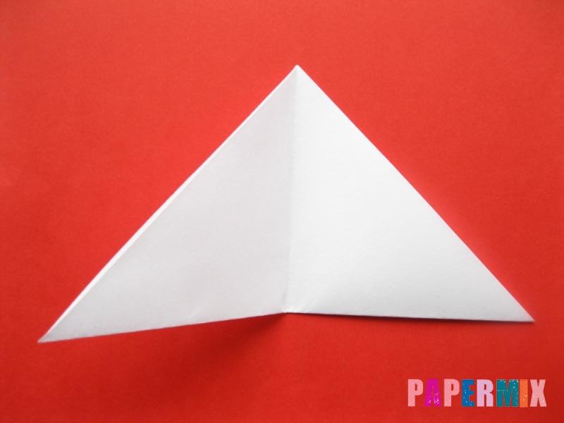 Как сделать мордочку зайчика из бумаги поэтапно - шаг 5
