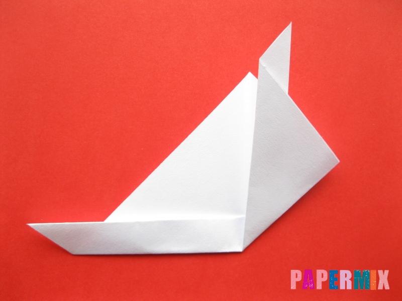 Как сделать мордочку зайчика из бумаги поэтапно - шаг 7