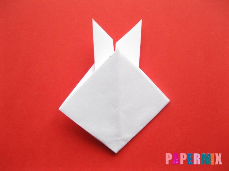 Как сделать мордочку зайчика из бумаги поэтапно - шаг 8