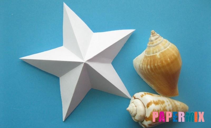 Как сделать морскую звезду из бумаги в технике оригами своими руками