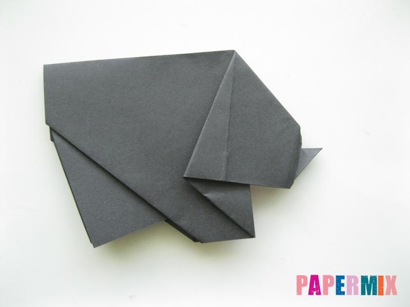 Как сделать носорога из бумаги (оригами) поэтапно - шаг 13