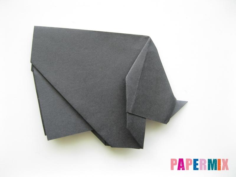 Как сделать носорога из бумаги (оригами) поэтапно - шаг 14