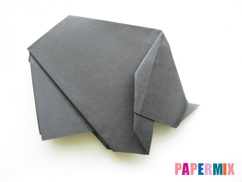 Как сделать носорога из бумаги (оригами) поэтапно - шаг 16
