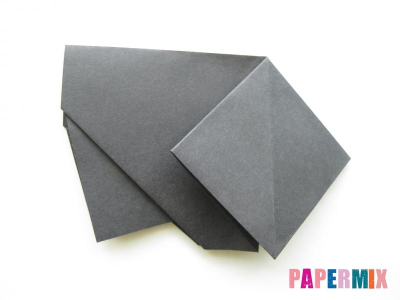 Как сделать носорога из бумаги (оригами) поэтапно - шаг 7