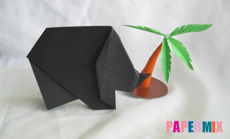 Как сделать носорога из бумаги в технике оригами своими руками поэтапно