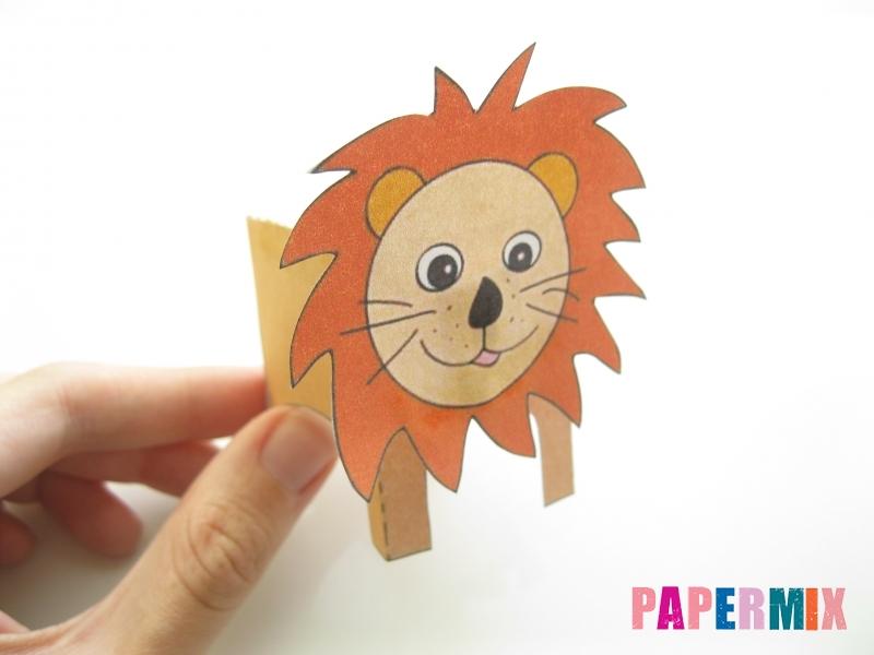 Как сделать объемного льва по шаблону из бумаги - шаг 8