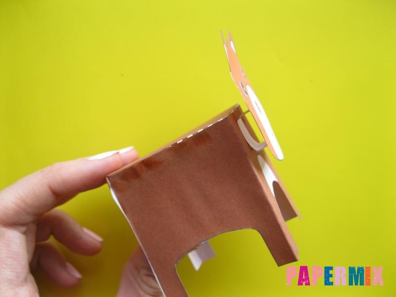 Как сделать объемного медведя по шаблону из бумаги - шаг 7