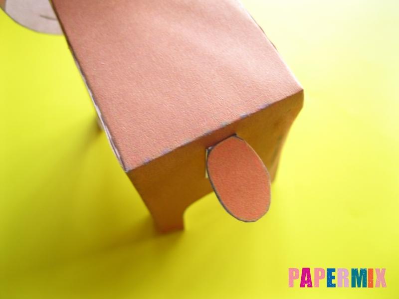 Как сделать объемного медведя по шаблону из бумаги - шаг 9