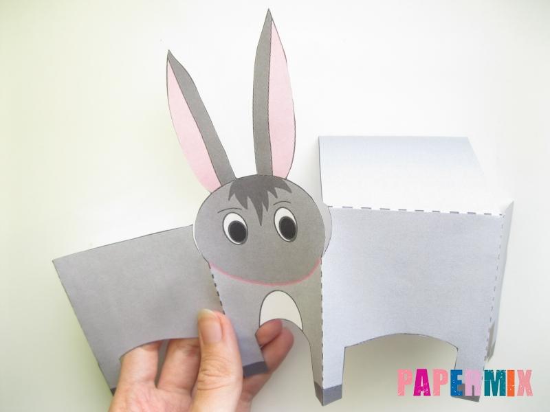 Как сделать объемного ослика по шаблону из бумаги - шаг 2