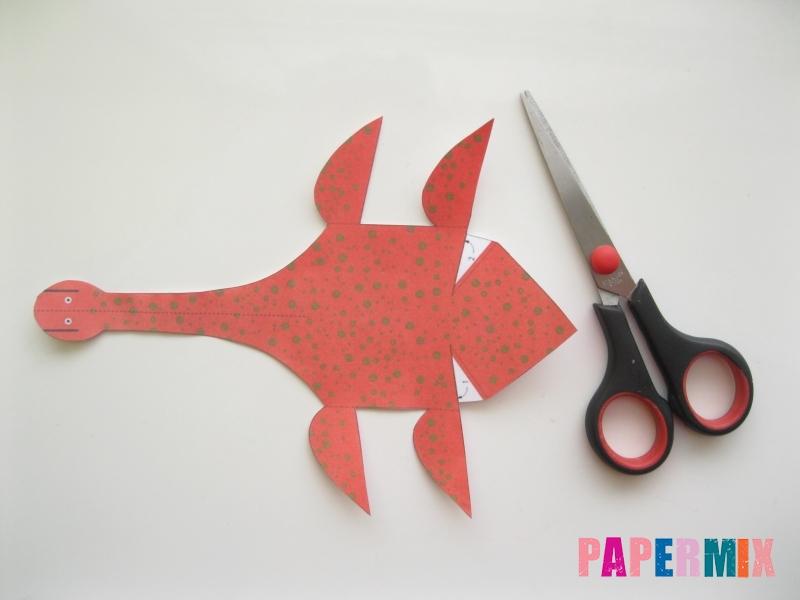 Как сделать объемного Плезиозавра по шаблону из бумаги - шаг 1