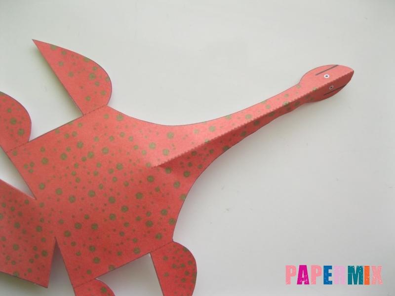 Как сделать объемного Плезиозавра по шаблону из бумаги - шаг 4