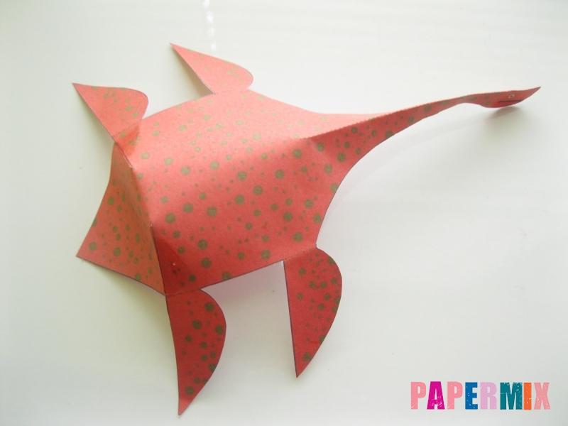 Как сделать объемного Плезиозавра по шаблону из бумаги - шаг 9