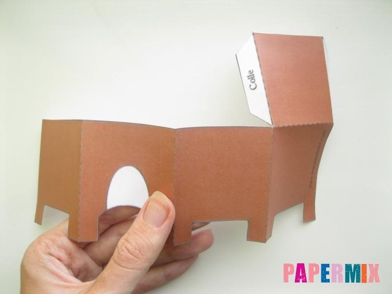 Как сделать объемного зайчика по шаблону из бумаги - шаг 2