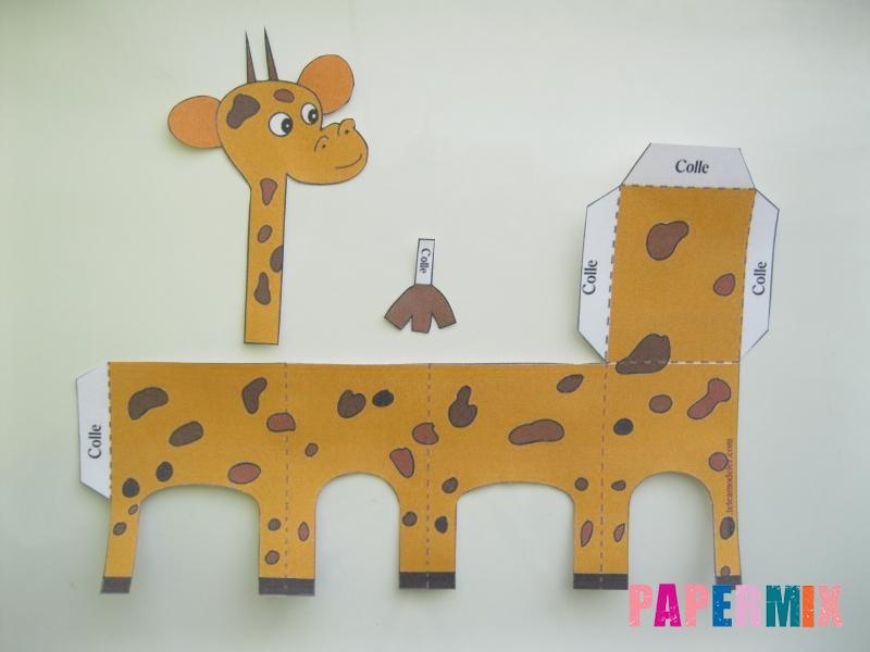 Как сделать объемного Жирафа по шаблону из бумаги - шаг 1