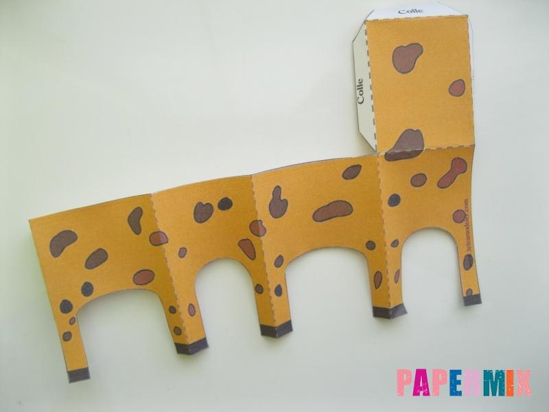 Как сделать объемного Жирафа по шаблону из бумаги - шаг 2