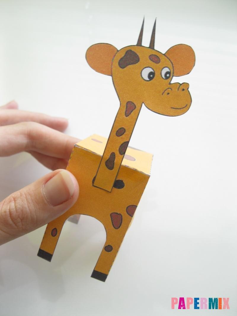 Как сделать объемного Жирафа по шаблону из бумаги - шаг 5