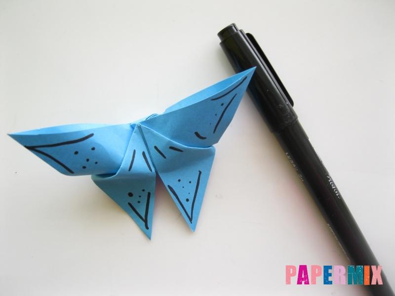 Как сделать объемную бабочку из бумаги поэтапно - шаг 11