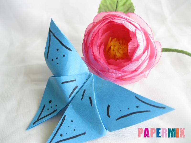 Как сделать объемную бабочку из бумаги поэтапно - шаг 12
