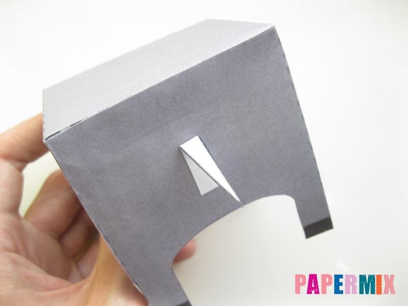 Как сделать объемную бегемота из бумаги по шаблону - шаг 4