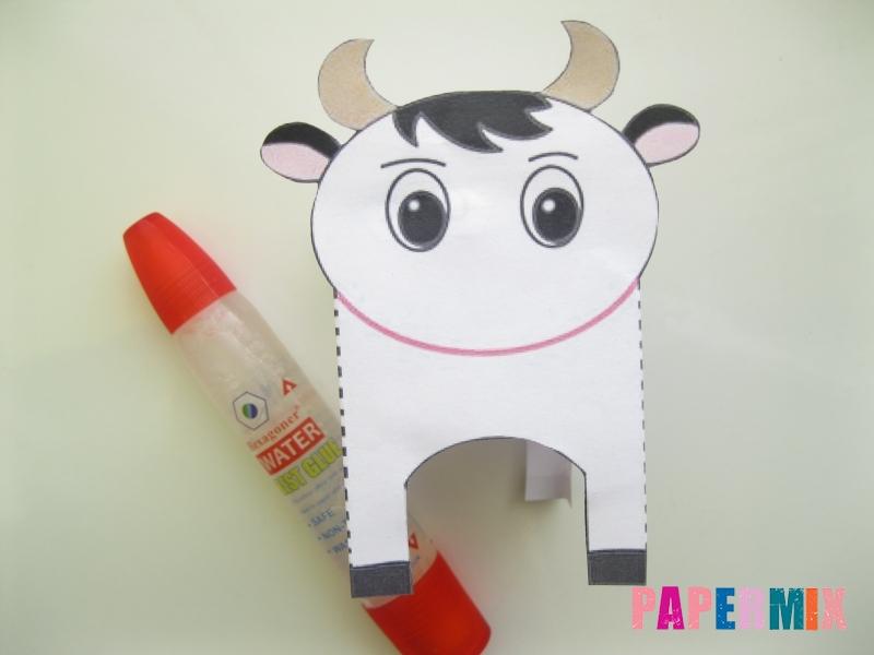 Как сделать объемную корову по шаблону из бумаги - шаг 3