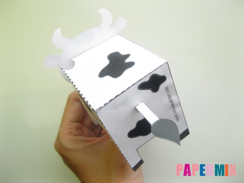 Как сделать объемную корову по шаблону из бумаги - шаг 6