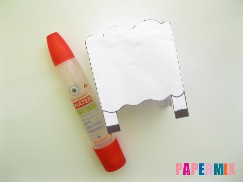 Как сделать объемную овечку по шаблону из бумаги - шаг 3