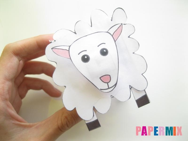 Как сделать объемную овечку по шаблону из бумаги - шаг 7