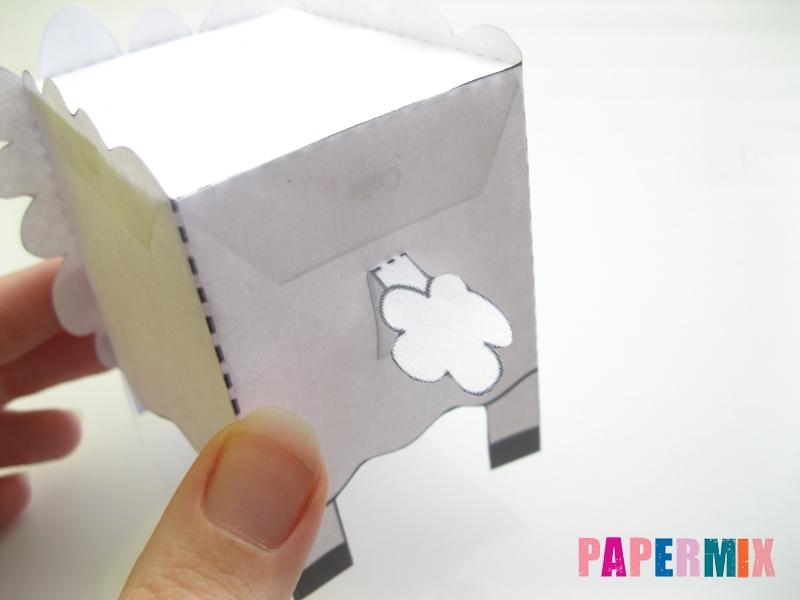 Как сделать объемную овечку по шаблону из бумаги - шаг 8