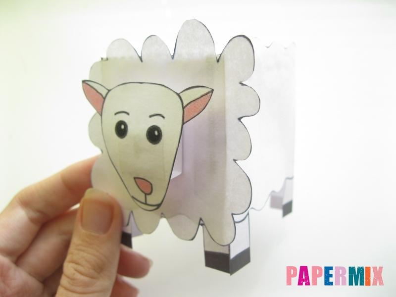 Как сделать объемную овечку по шаблону из бумаги - шаг 9