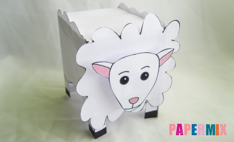 Как сделать объемную овечку по шаблону из бумаги своими руками поэтапно