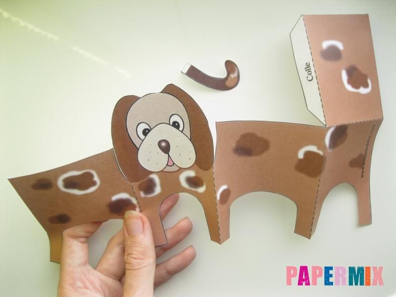Как сделать объемную собаку по шаблону из бумаги - шаг 2