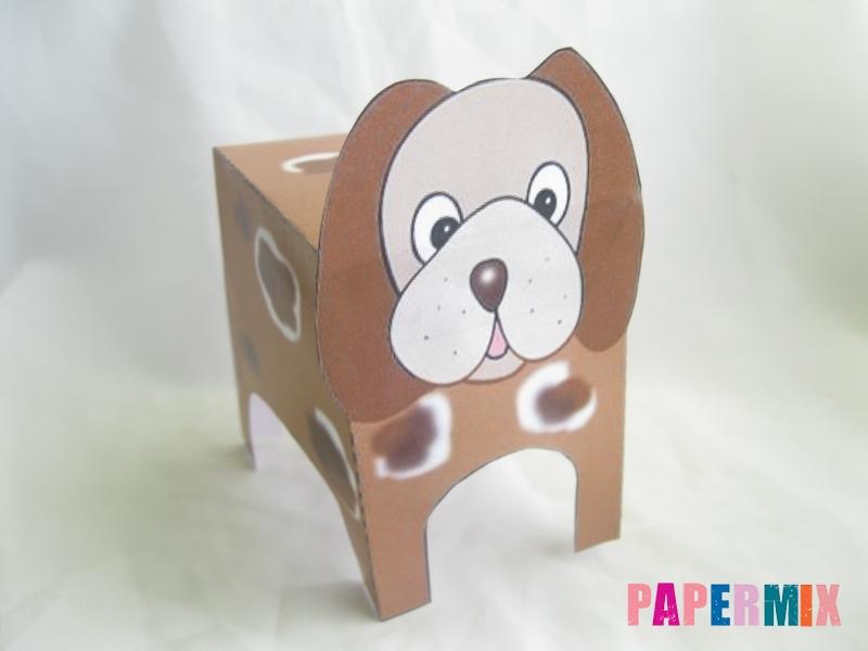 Как сделать объемную собаку по шаблону из бумаги - шаг 5