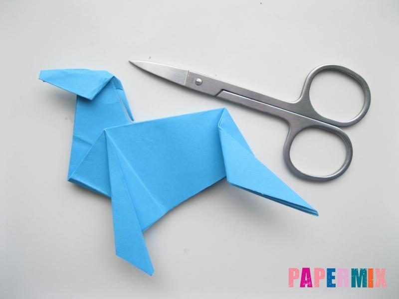 Как сделать оленя из бумаги (оригами) поэтапно - шаг 15