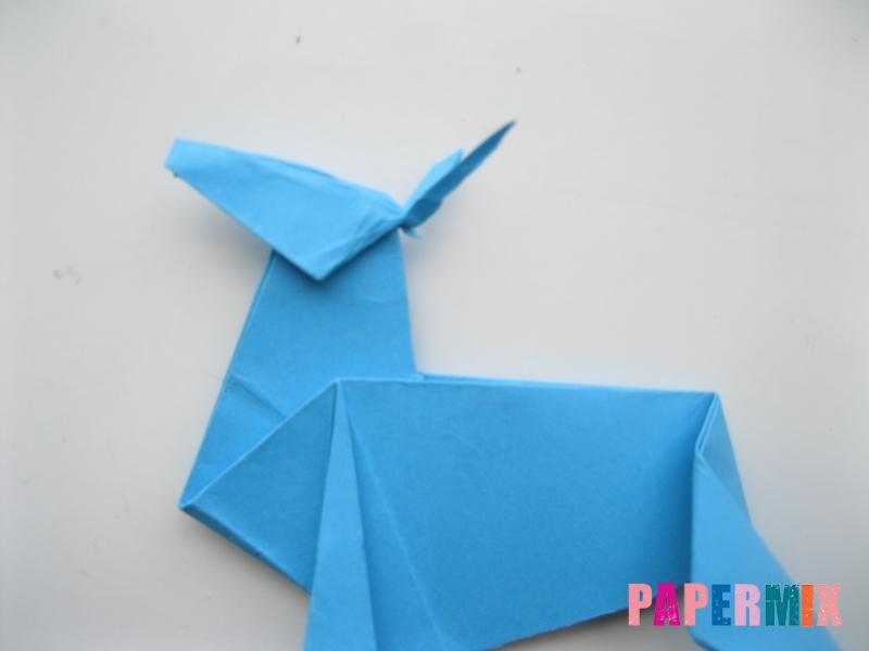 Как сделать оленя из бумаги (оригами) поэтапно - шаг 16