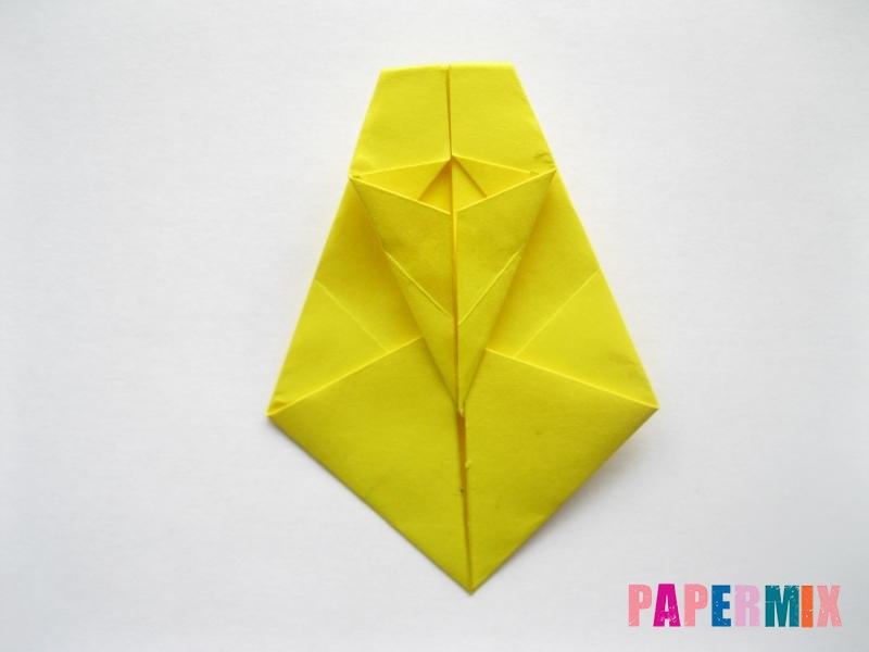 Как сделать овчарку из бумаги (оригами) поэтапно - шаг 12