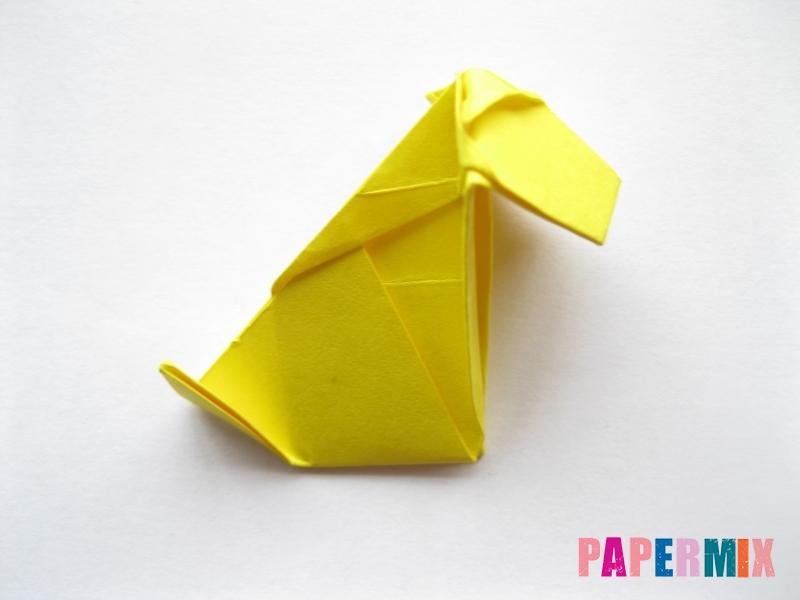 Как сделать овчарку из бумаги (оригами) поэтапно - шаг 16