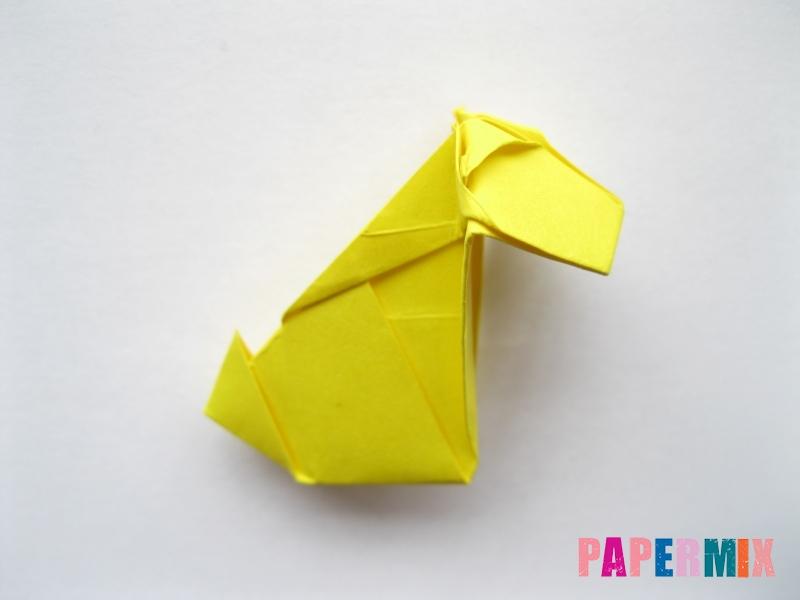Как сделать овчарку из бумаги (оригами) поэтапно - шаг 17