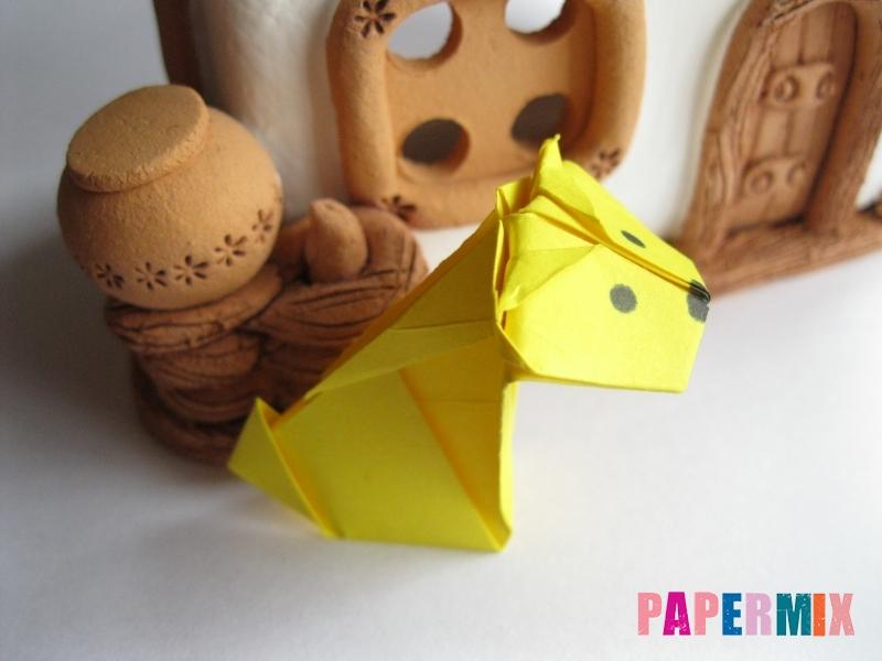 Как сделать овчарку из бумаги (оригами) поэтапно - шаг 19