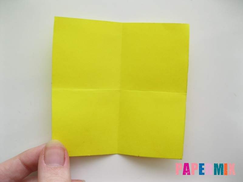 Как сделать овчарку из бумаги (оригами) поэтапно - шаг 2