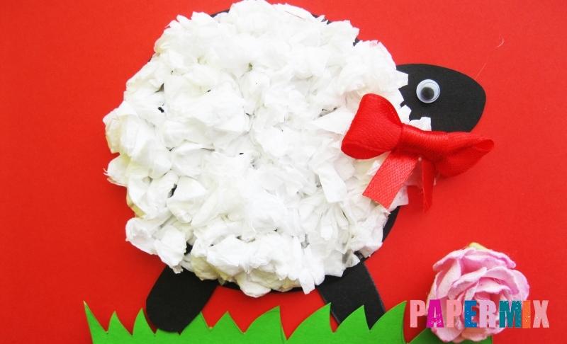 Как сделать овечку из бумаги и салфеток своими руками