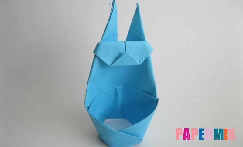 Как сделать пасхального зайца из бумаги своими руками поэтапно