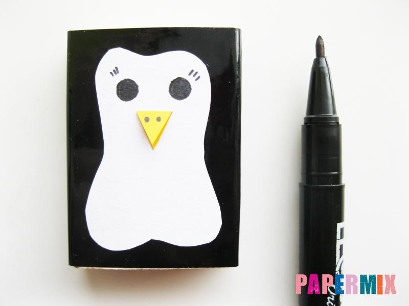 Как сделать пингвина из спичечного коробка инструкция - шаг 6