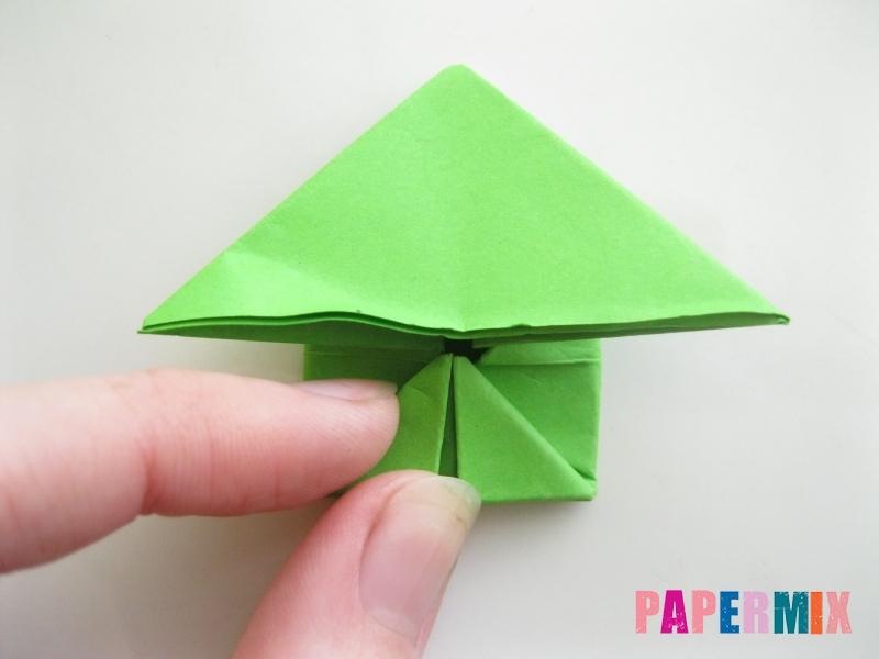 Как сделать прыгающую лягушку из бумаги своими руками - шаг 11